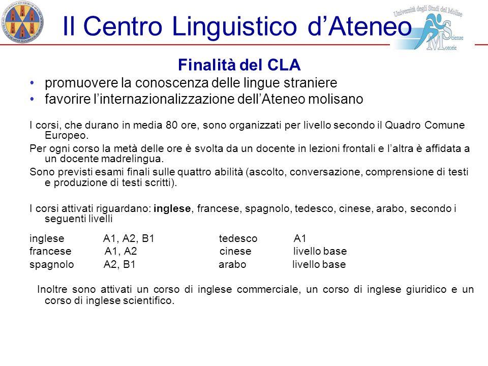 Il Centro Linguistico d'Ateneo