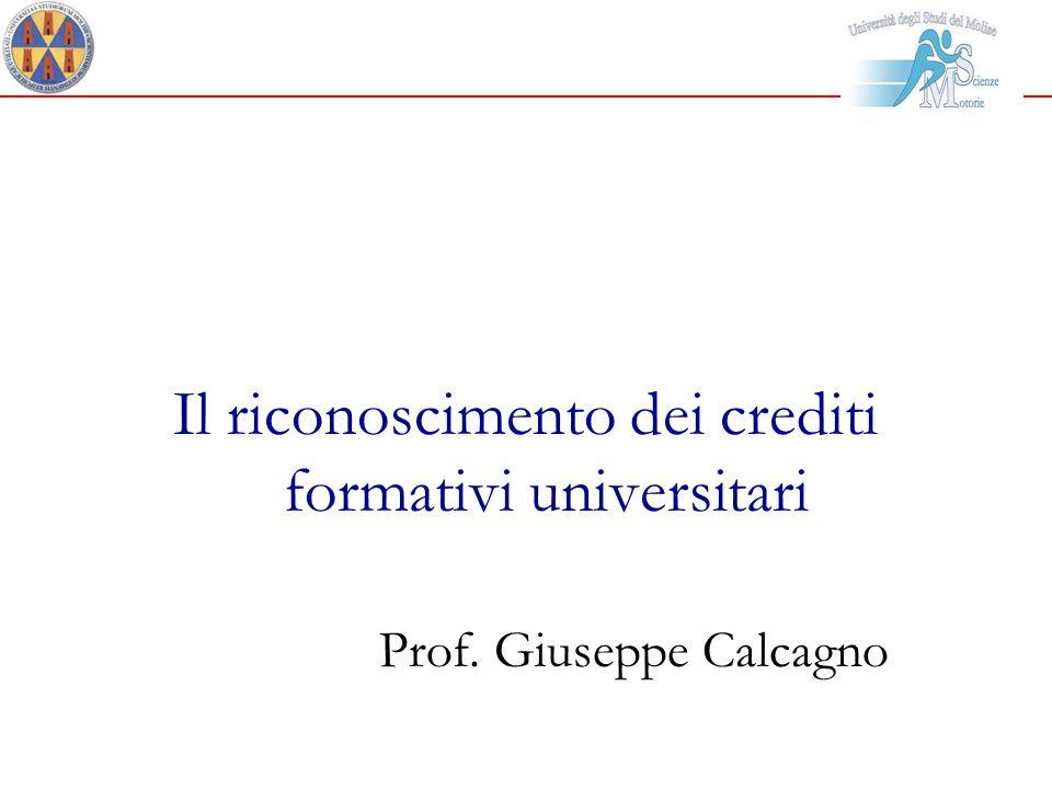 Il riconoscimento dei crediti formativi universitari