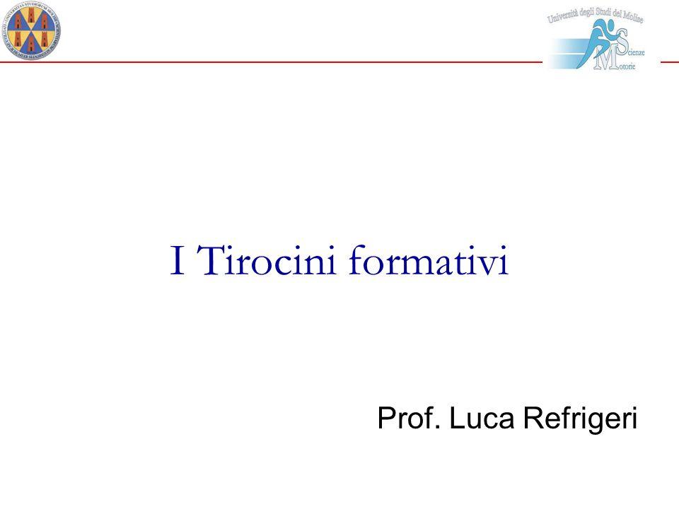 I Tirocini formativi Prof. Luca Refrigeri