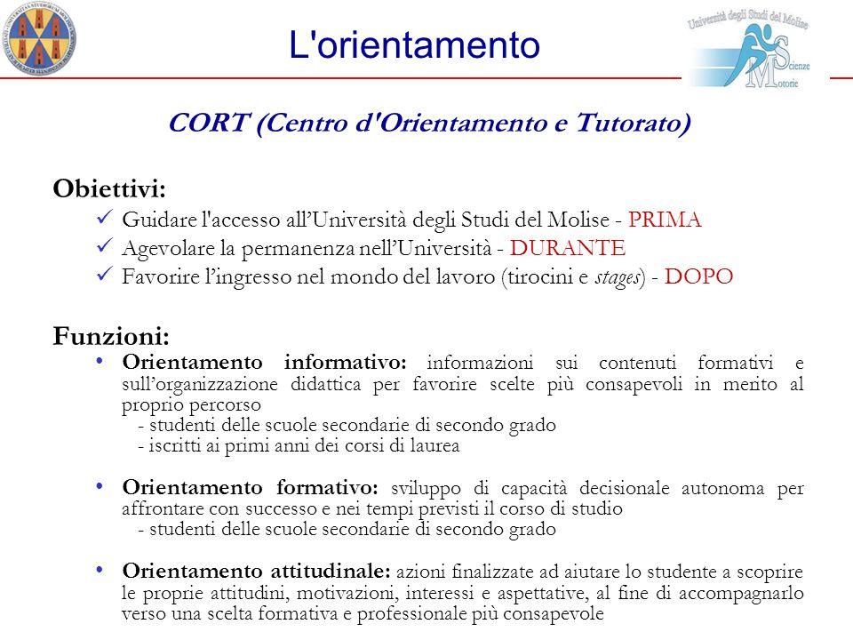 CORT (Centro d Orientamento e Tutorato)