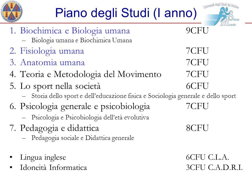 Piano degli Studi (I anno)