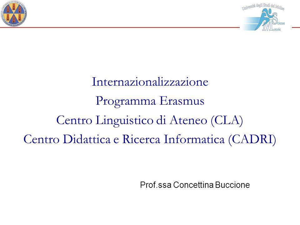 Internazionalizzazione Programma Erasmus