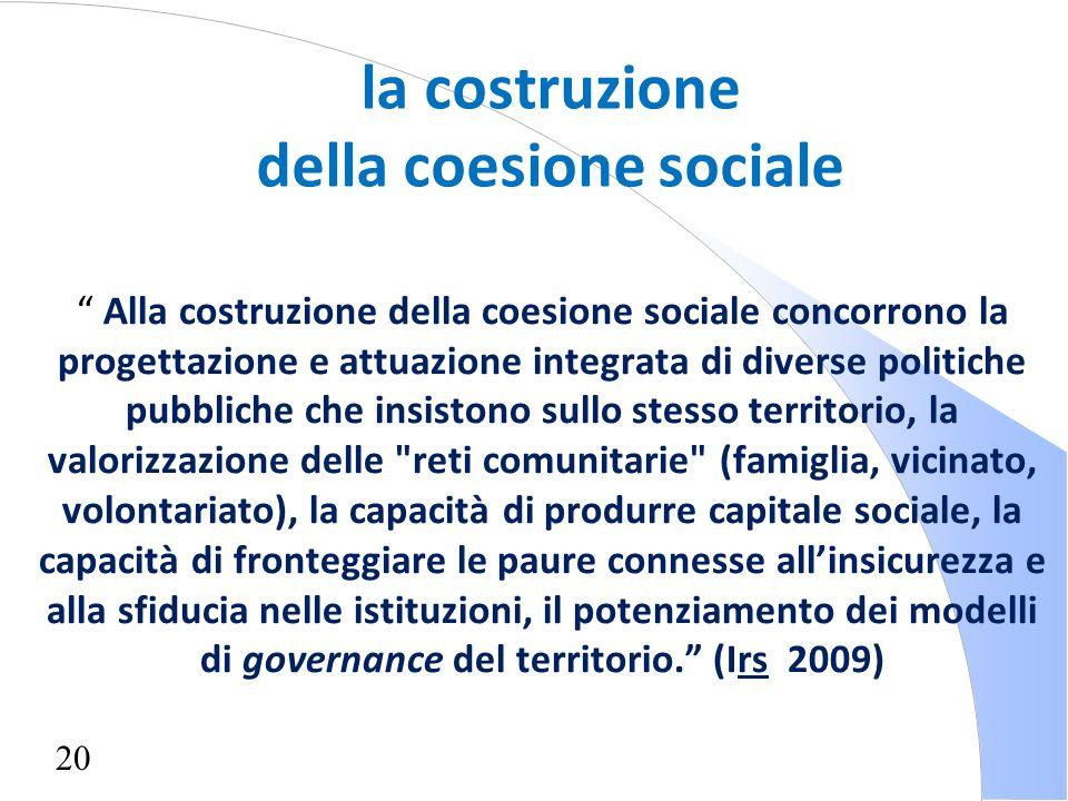 della coesione sociale
