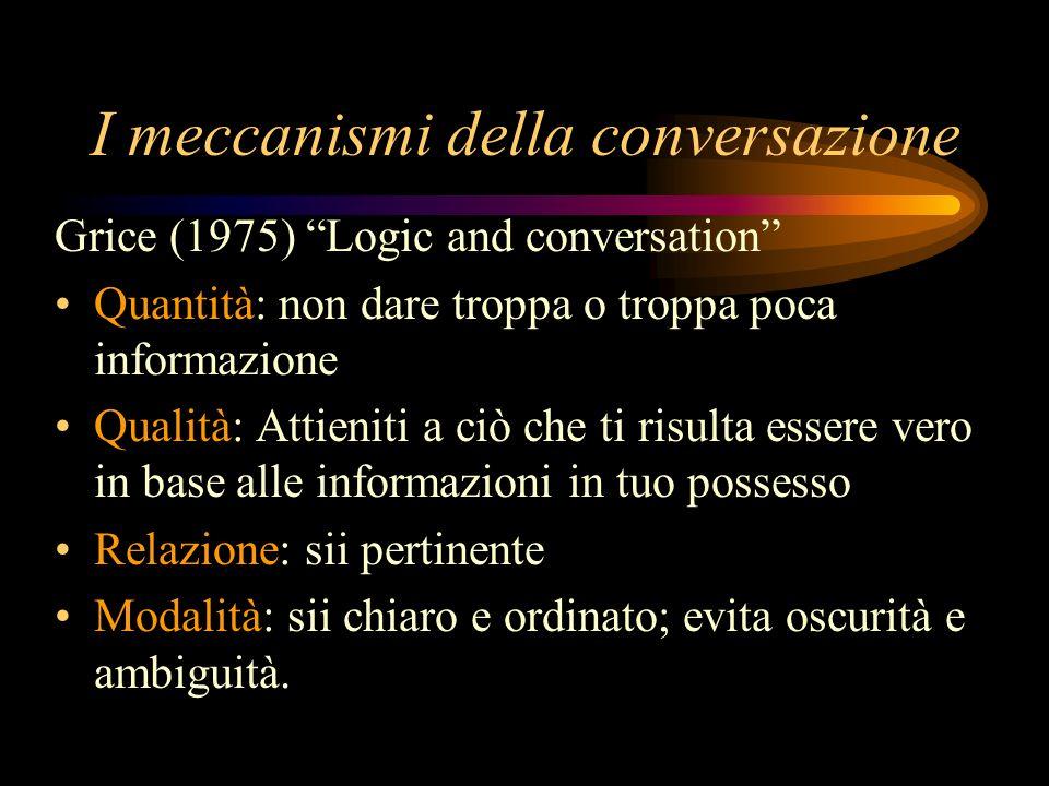 I meccanismi della conversazione