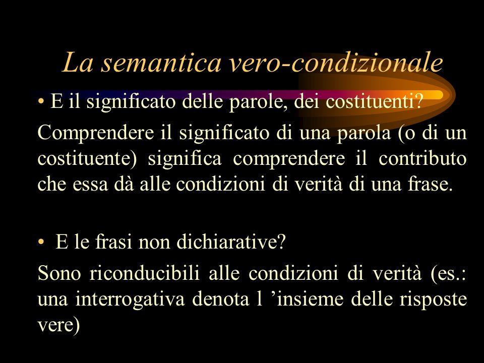 La semantica vero-condizionale