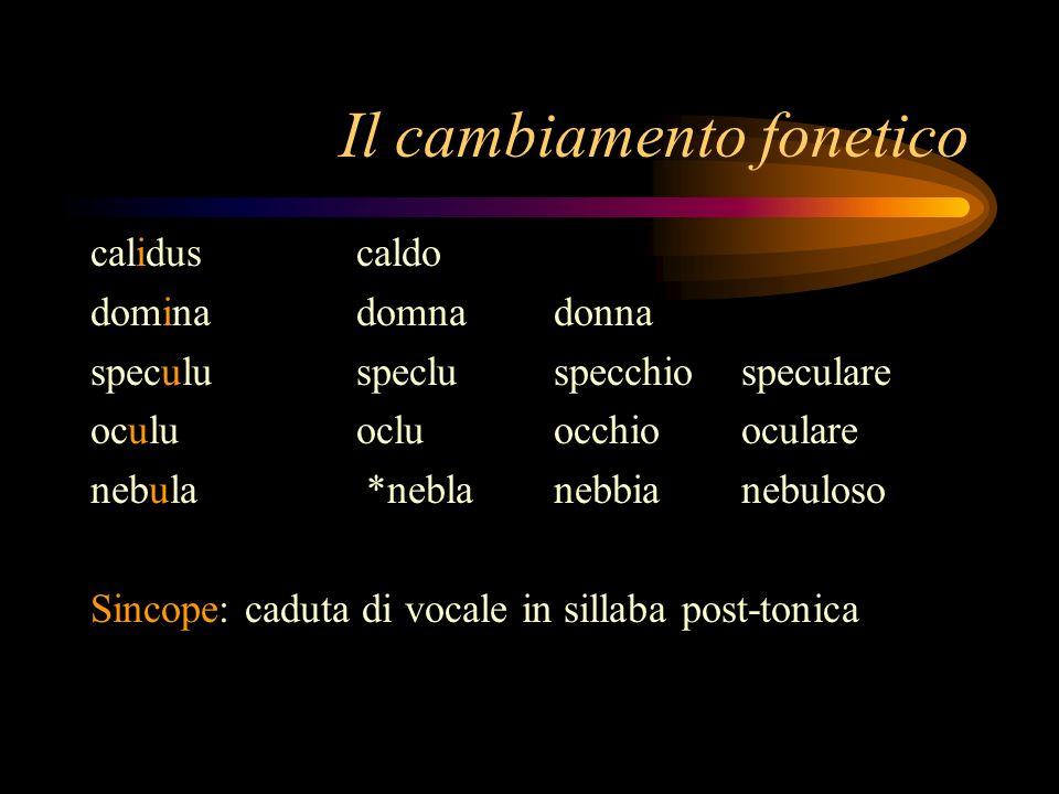 Il cambiamento fonetico