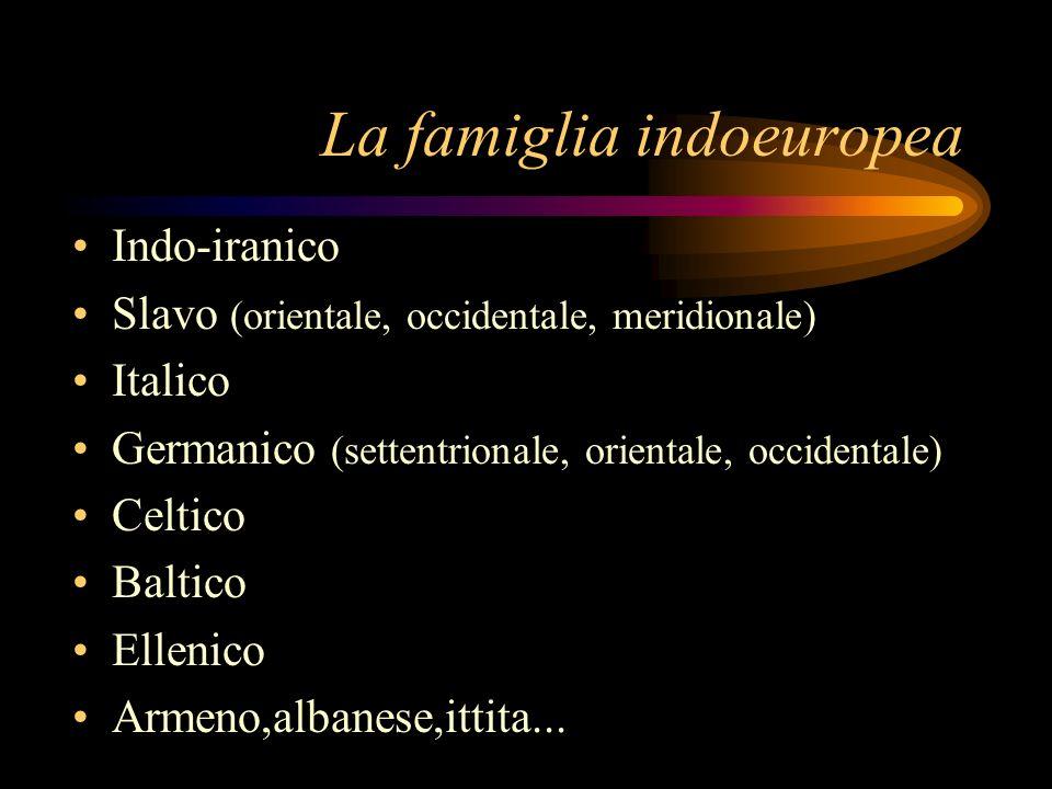 La famiglia indoeuropea