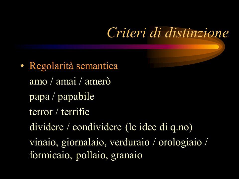 Criteri di distinzione