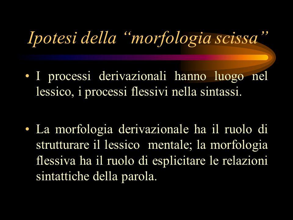 Ipotesi della morfologia scissa
