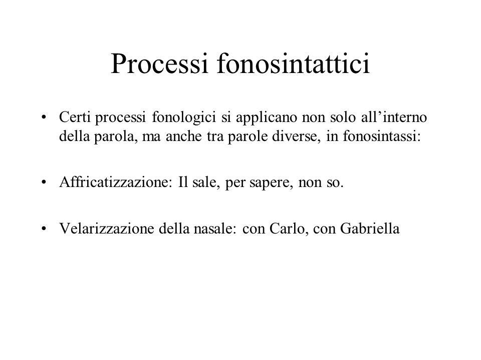 Processi fonosintattici