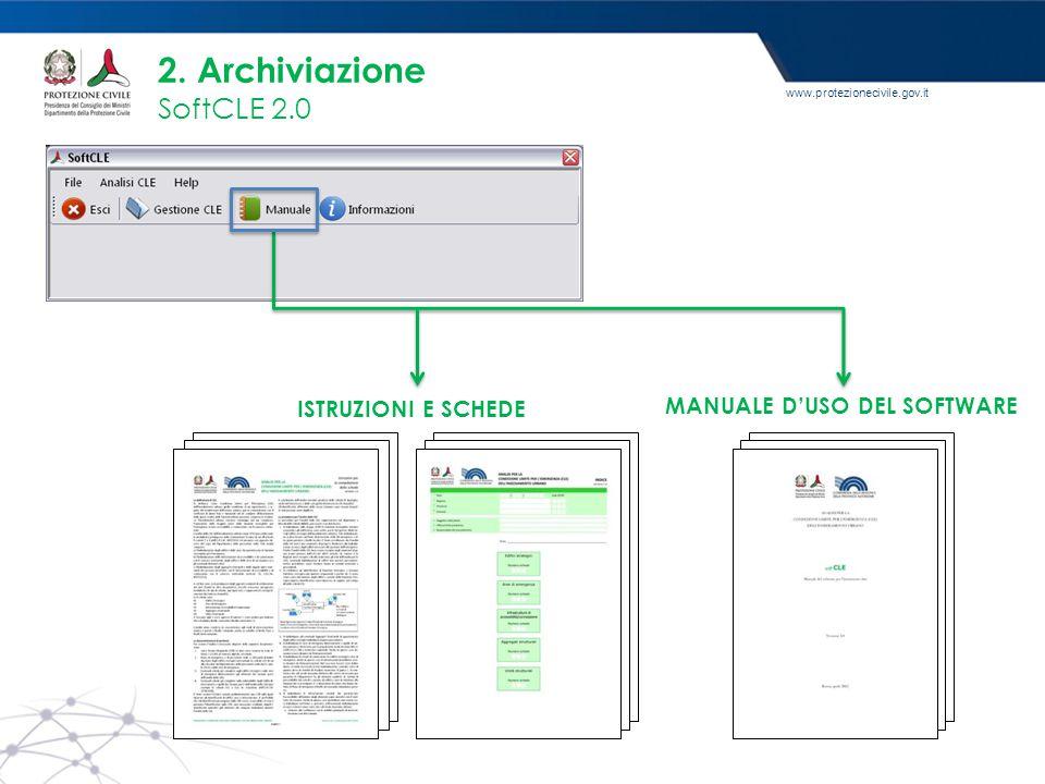 2. Archiviazione SoftCLE 2.0 ISTRUZIONI E SCHEDE