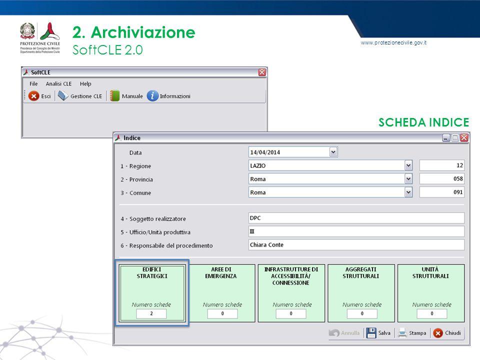 2. Archiviazione SoftCLE 2.0 SCHEDA INDICE