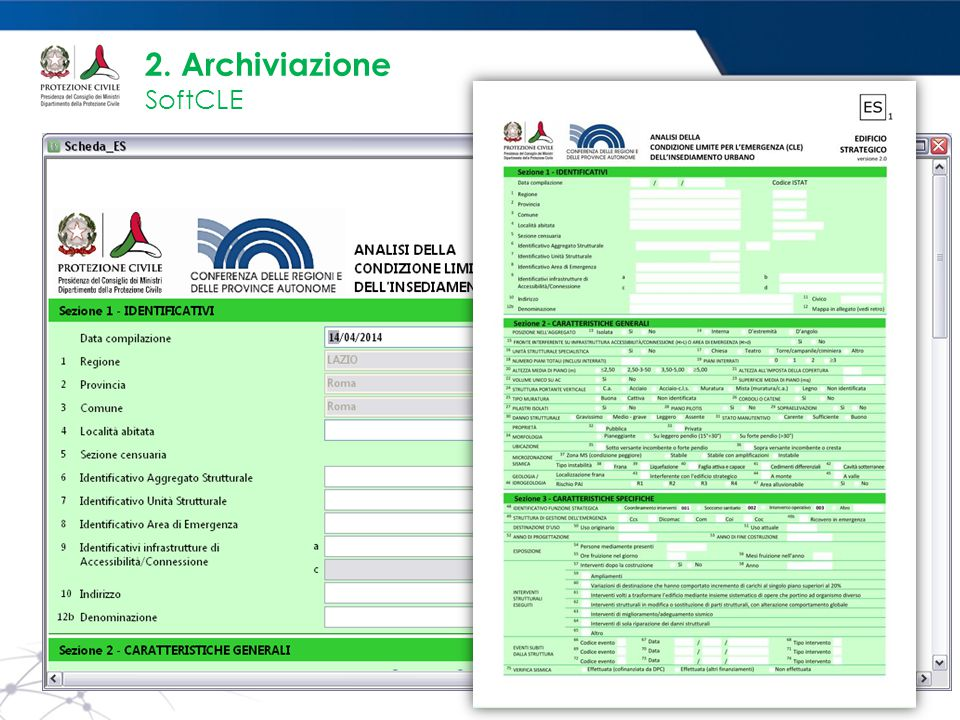 2. Archiviazione SoftCLE PANNELLO GESTIONE ES