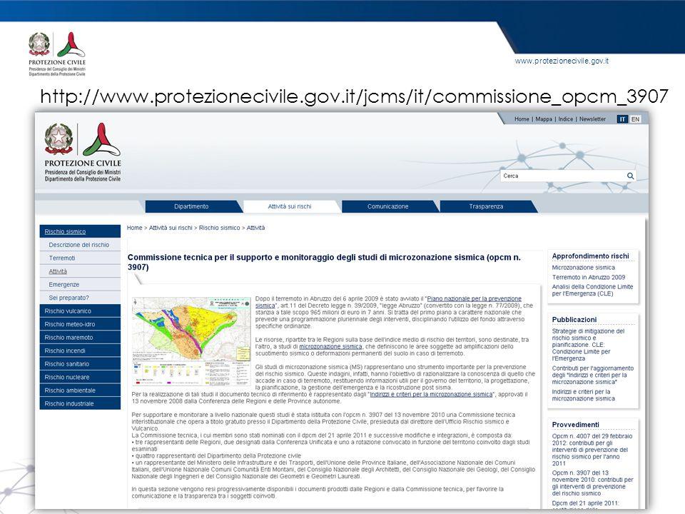 http://www.protezionecivile.gov.it/jcms/it/commissione_opcm_3907 Dove scaricare il materiale