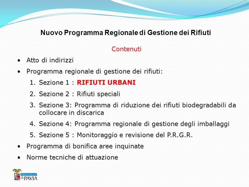 Nuovo Programma Regionale di Gestione dei Rifiuti