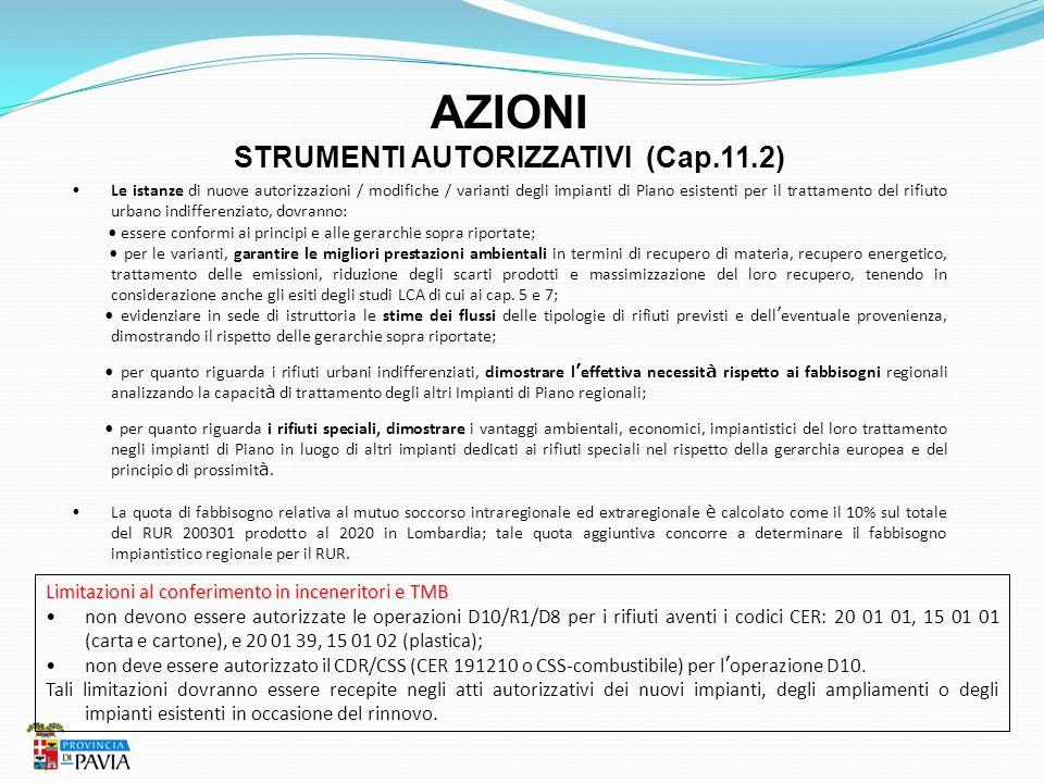 STRUMENTI AUTORIZZATIVI (Cap.11.2)
