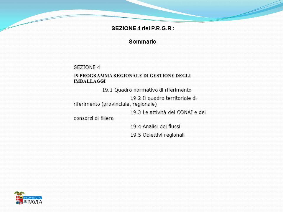 SEZIONE 4 del P.R.G.R : Sommario