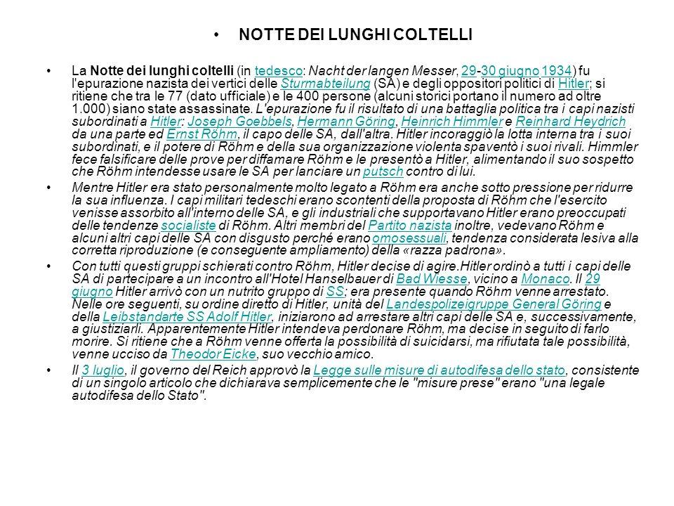 NOTTE DEI LUNGHI COLTELLI