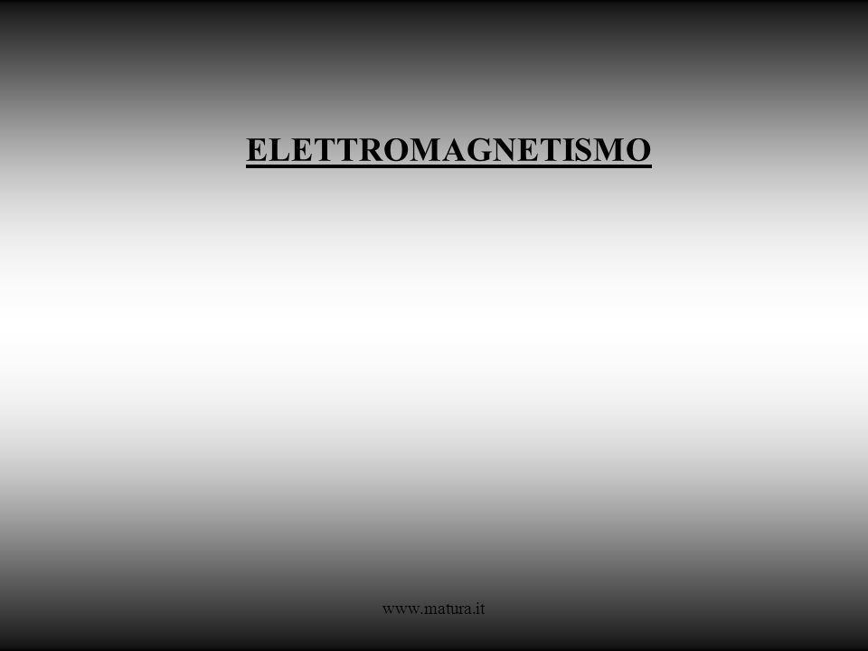 ELETTROMAGNETISMO www.matura.it