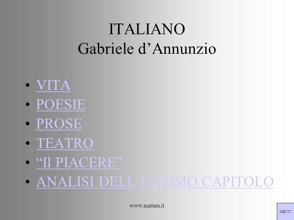 ITALIANO Gabriele d'Annunzio