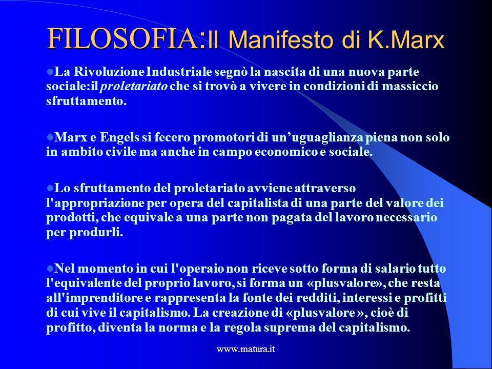 FILOSOFIA:Il Manifesto di K.Marx