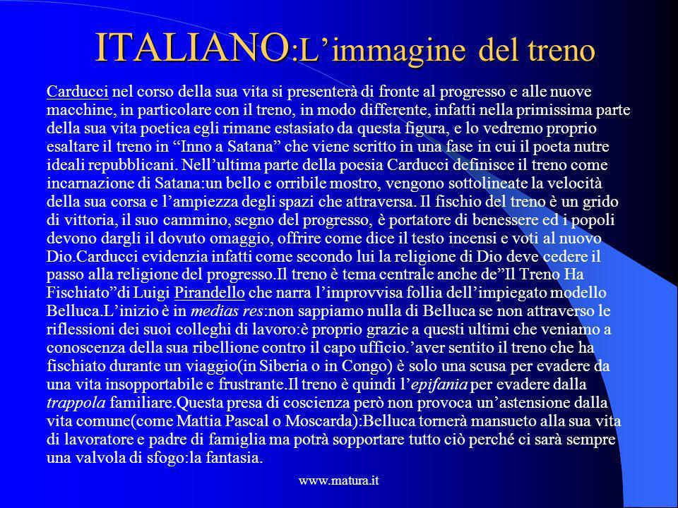 ITALIANO:L'immagine del treno