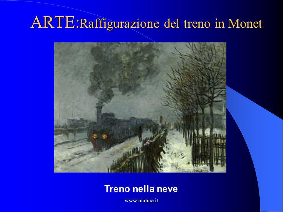 ARTE:Raffigurazione del treno in Monet