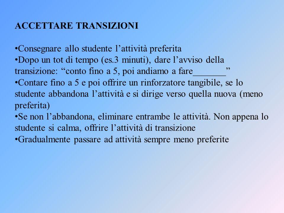 ACCETTARE TRANSIZIONI