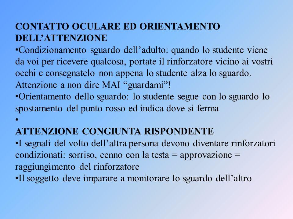 CONTATTO OCULARE ED ORIENTAMENTO DELL'ATTENZIONE