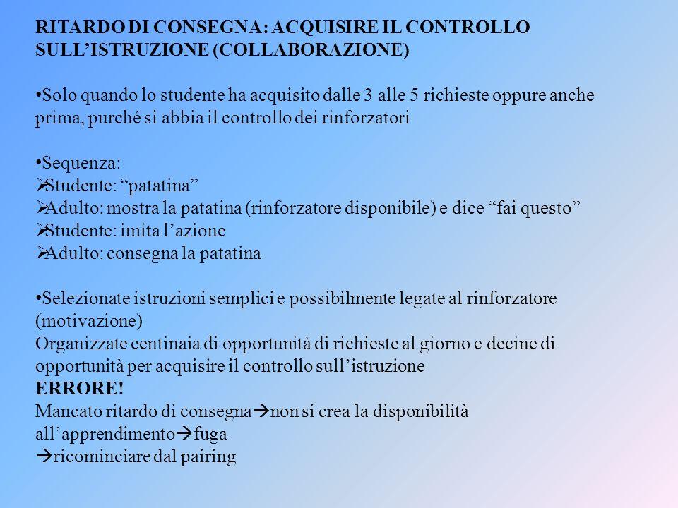 RITARDO DI CONSEGNA: ACQUISIRE IL CONTROLLO SULL'ISTRUZIONE (COLLABORAZIONE)