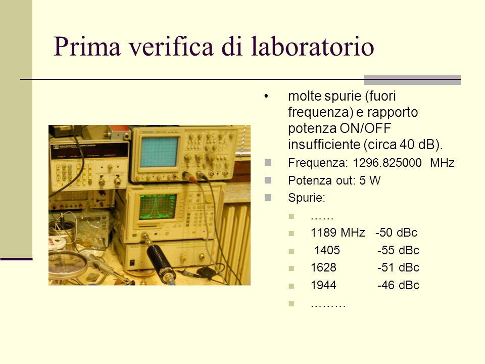 Prima verifica di laboratorio