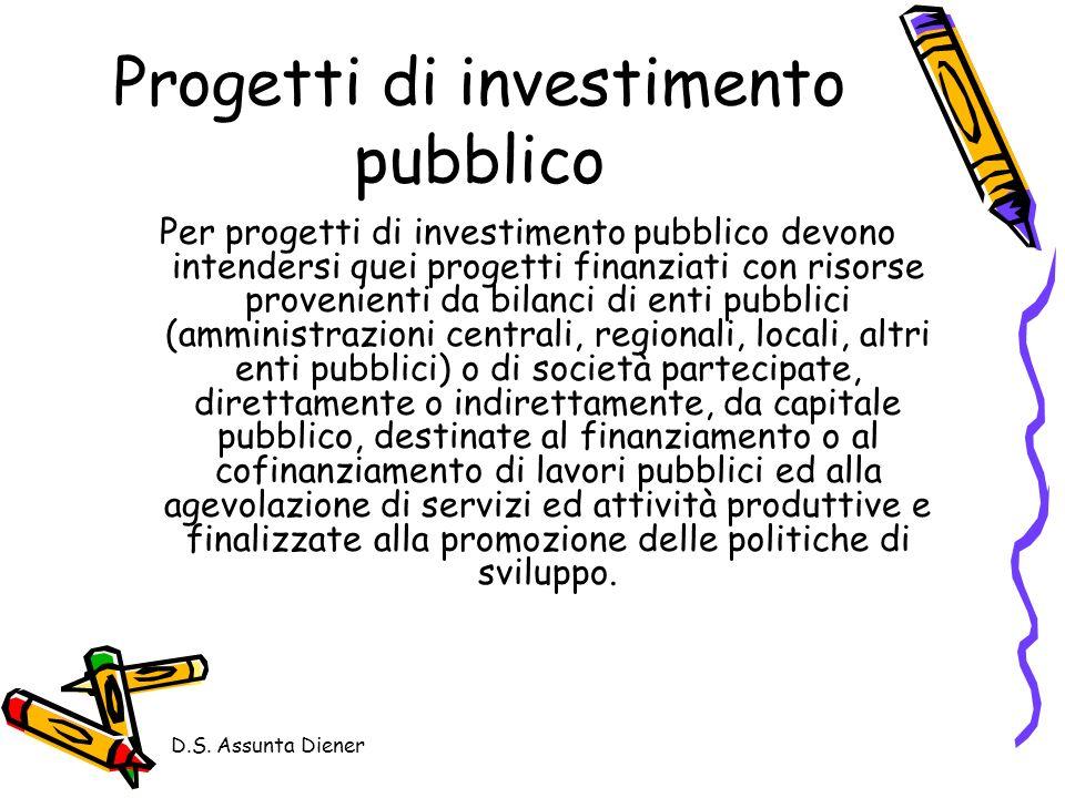 Progetti di investimento pubblico