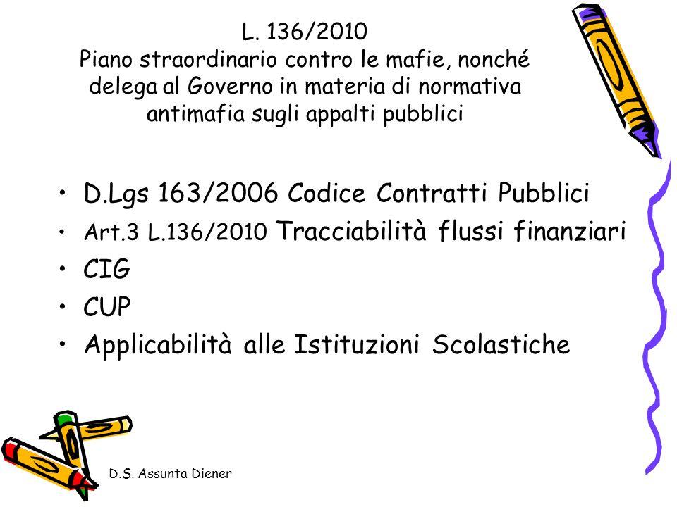 D.Lgs 163/2006 Codice Contratti Pubblici CIG CUP