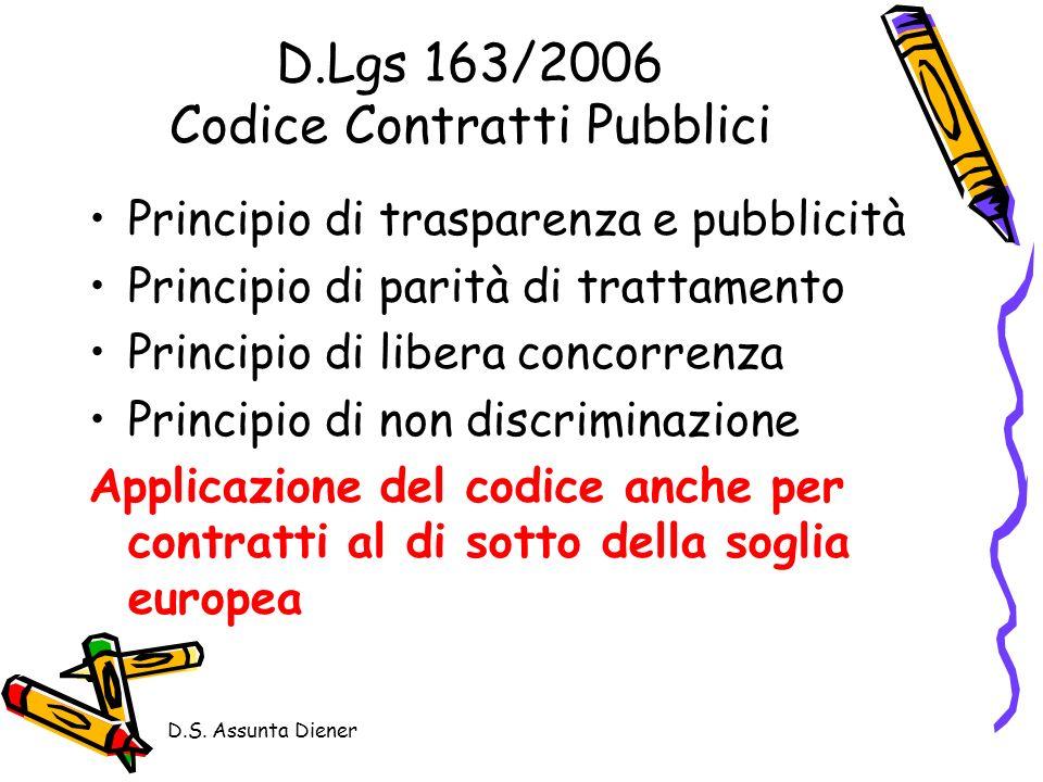 D.Lgs 163/2006 Codice Contratti Pubblici