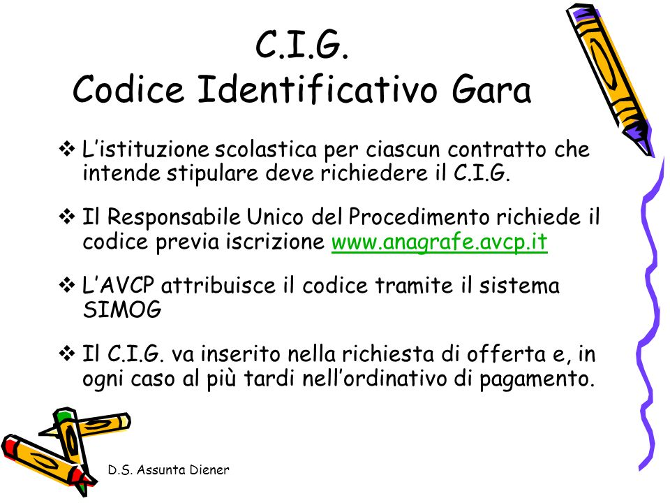 C.I.G. Codice Identificativo Gara