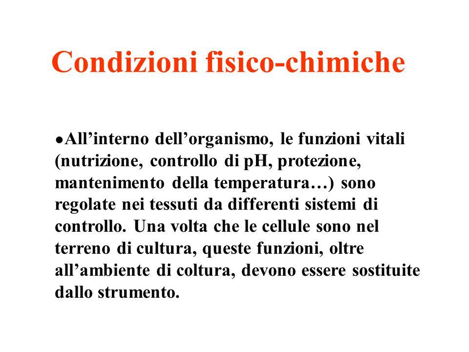 Condizioni fisico-chimiche
