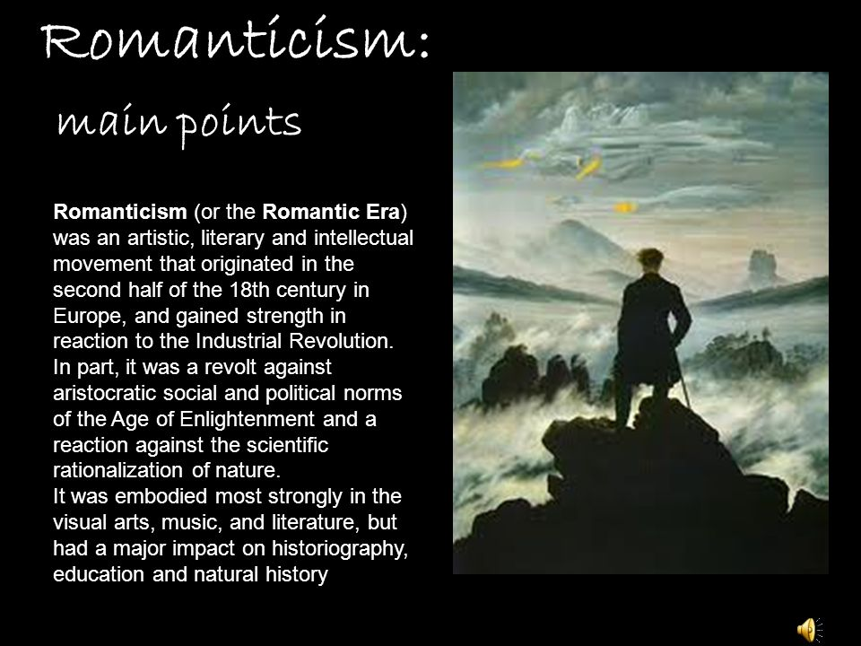 Romanticism: main points