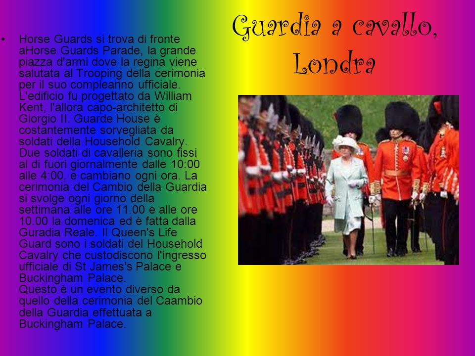 Guardia a cavallo, Londra