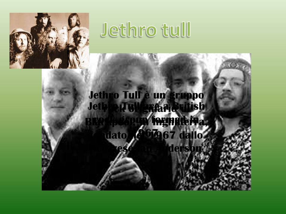 Jethro Tull are a British rock group formed in 1967.