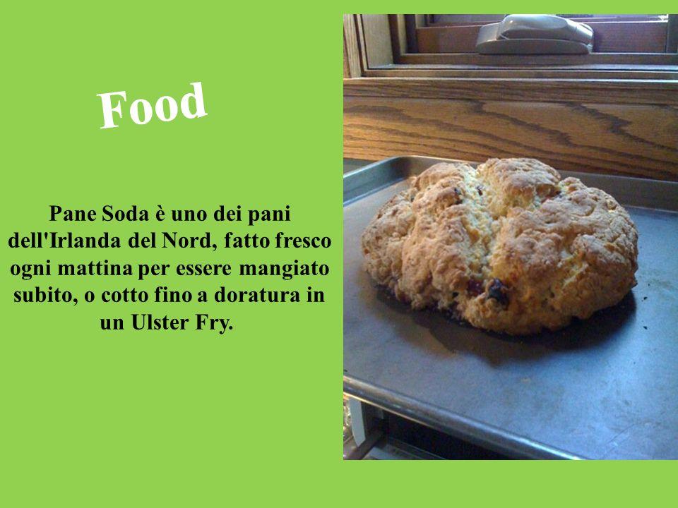 Food Pane Soda è uno dei pani dell Irlanda del Nord, fatto fresco ogni mattina per essere mangiato subito, o cotto fino a doratura in un Ulster Fry.