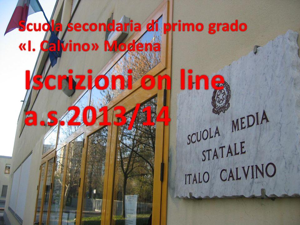 Iscrizioni on line a.s.2013/14 Scuola secondaria di primo grado