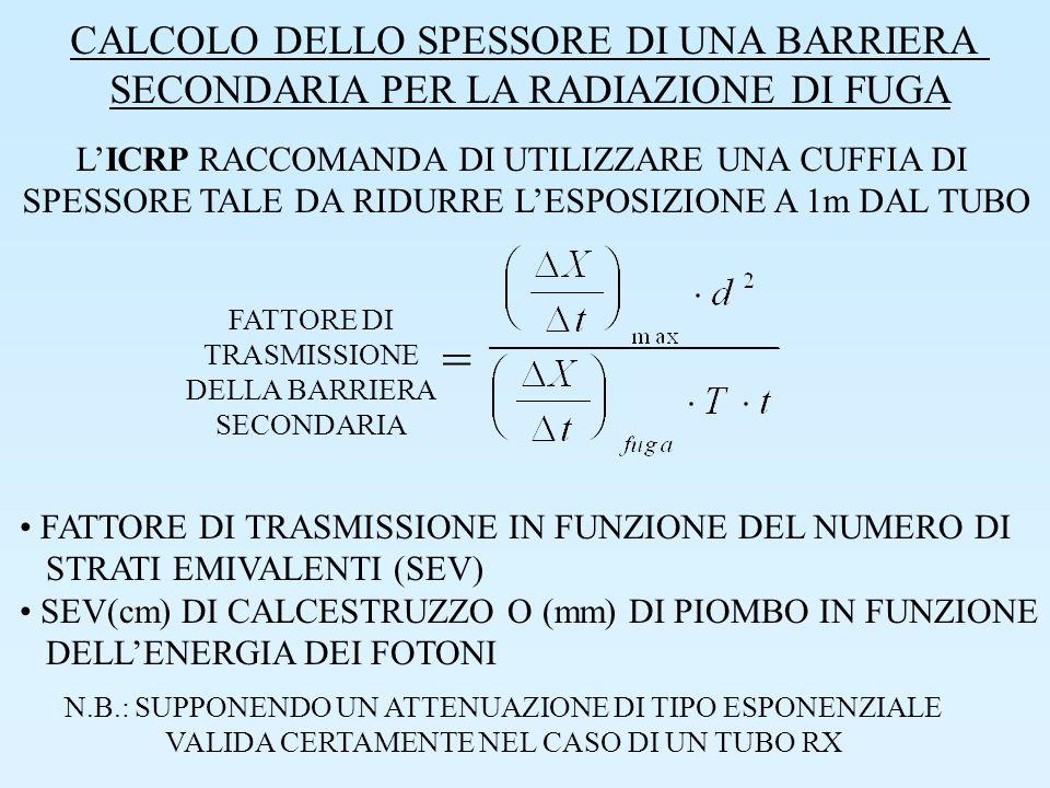 = CALCOLO DELLO SPESSORE DI UNA BARRIERA