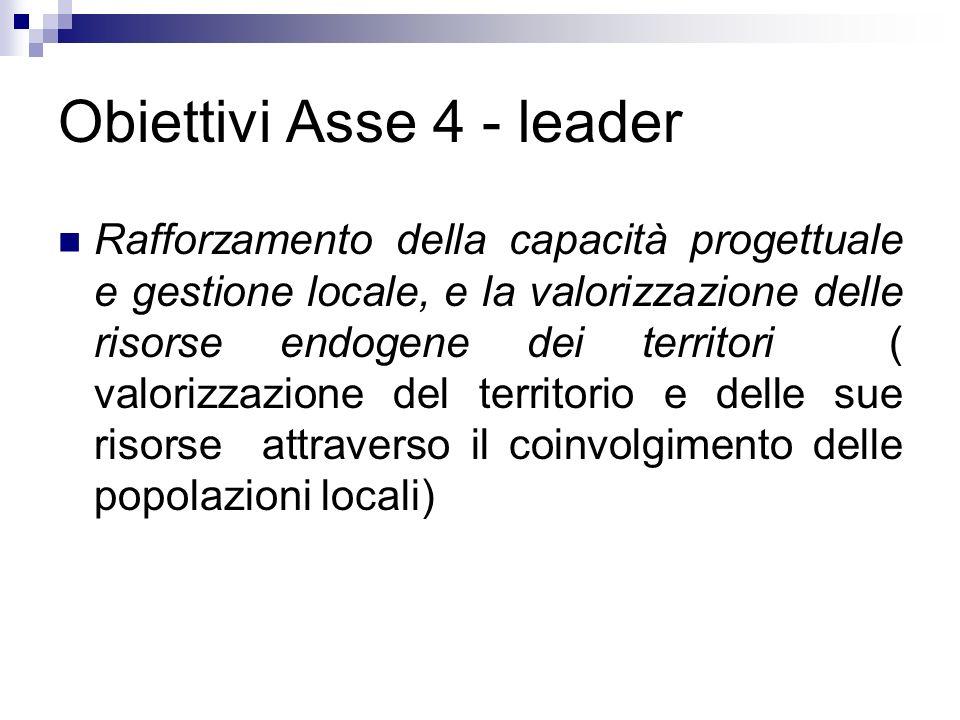 Obiettivi Asse 4 - leader