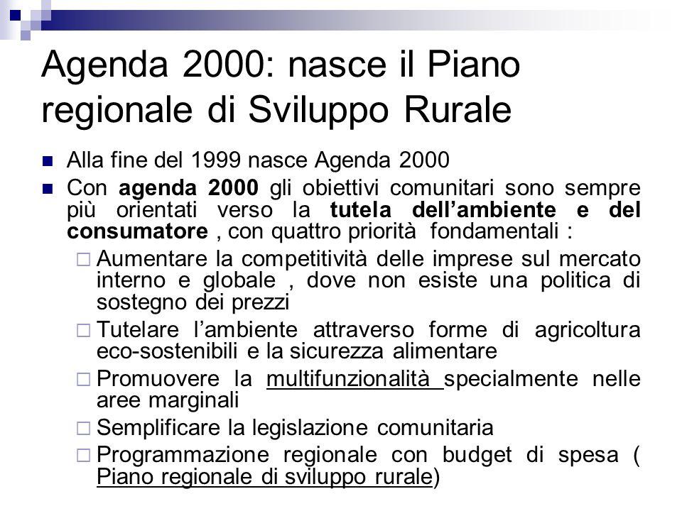 Agenda 2000: nasce il Piano regionale di Sviluppo Rurale