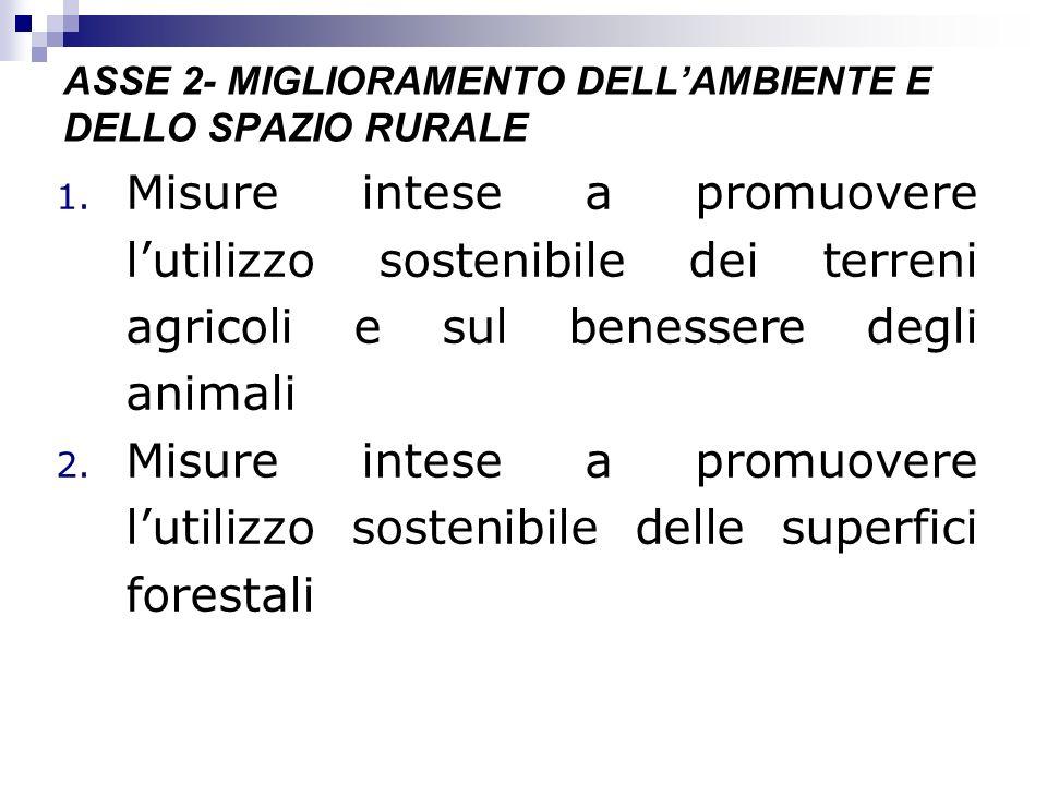 ASSE 2- MIGLIORAMENTO DELL'AMBIENTE E DELLO SPAZIO RURALE