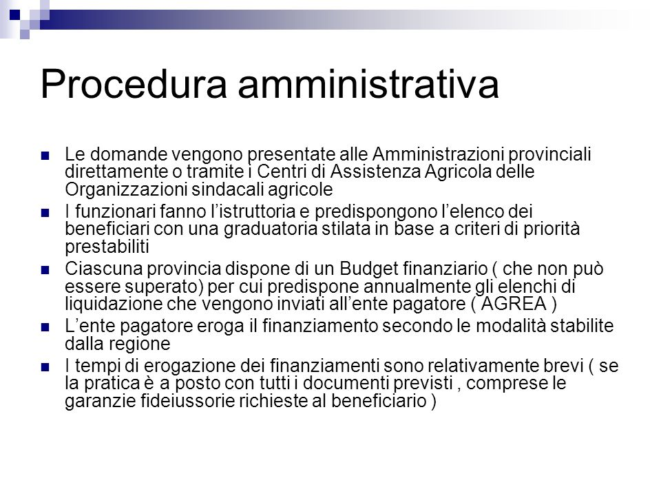 Procedura amministrativa