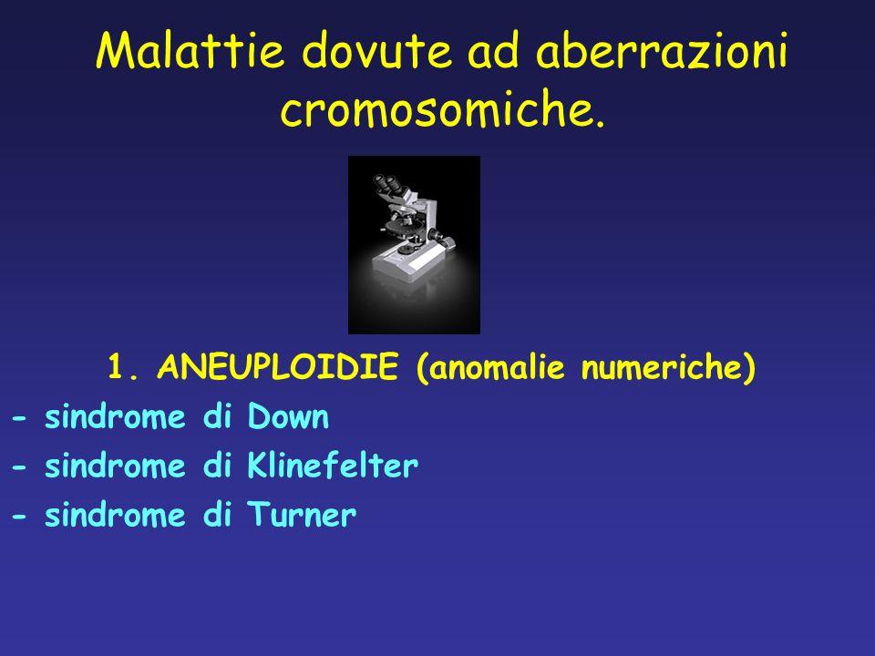 1. ANEUPLOIDIE (anomalie numeriche)