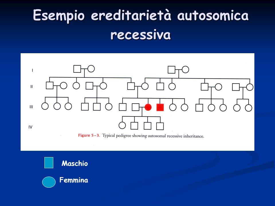 Esempio ereditarietà autosomica recessiva