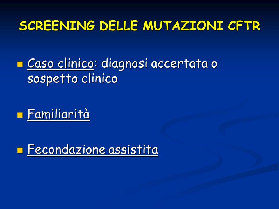 SCREENING DELLE MUTAZIONI CFTR