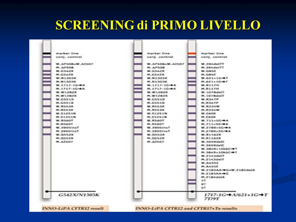 SCREENING di PRIMO LIVELLO